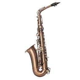Ingrosso Sassofono di rame dell'annata Premium Rame Sassofono Ottone generale per adulti e bambini strumenti musicali professionali