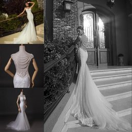 lace backless mermaid wedding dress pearl UK - Mermaid Wedding Dress New Vestidos De Novia Lace Appliques Beading Pearls Sweetheart Neck Spaghetti Strap Sleeveless Backless Bridal Gowns