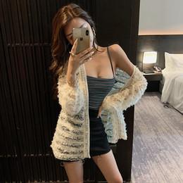 2020 der neuen Frauen Sicken Luxus-Design-Spitze Langhülse Mittel lange Strickjacke Kapmantel plus Größe S M L XL im Angebot