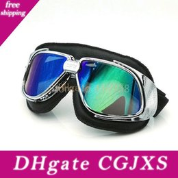 flexible gears NZ - Black Lether Flexible Adult Motorcycle Protective Gears Motocross Mx Goggles Glasses Motorcycle