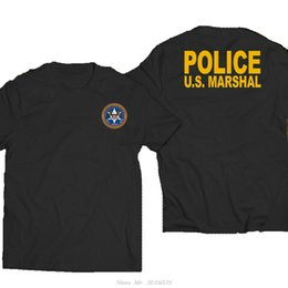Divertente nuovo US Stati Uniti Marshal Military Police Special Force Dipartimento T-shirt di cotone Tees Streetwear