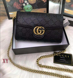 Wholesale crocheted wallet resale online - HOT High quality new fashion women wallet GY607804 knapsack high quality shoulderbags men and womeng eneral Satchel