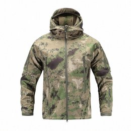 softshell camouflage jacket Australia - US Jacket Men Army Tactical Softshell Multicam Camouflage Windbreaker Hunt Outerwear Clothes H2Ws#