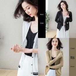 Wholesale shirt sleeve pins online – design Exerion Tencel linen shirt zhen zhi pin shan linen knitwear Summer new Korean style striped thin long sleeve women s sunscreen shirt bd