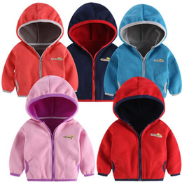 Wholesale corduroy coats for girls resale online – Childrens jacket Toddler Kid Baby Boys Girl Hooded Letter Sweatshirt Wind Coat jacket for girls Outwear for a boy EW