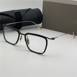 rimless spectacles frames Australia - Woman Mens Fashion Desinger Spectacle Lentes Frames Shades Famous Brand Desinger Optical Frame Square Shape Gold Myopia Men Eyewear
