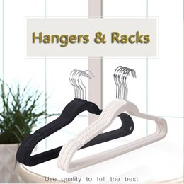 velvet clothes hangers UK - Velvet Flocking Hanger Non Slip Clothes Hanger Rotatable Hook Coat Hanger No Trace Pant Hangers Windproof Clothe Hangers Rack VT0404