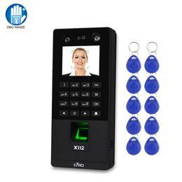 TCP / IP / USB biométrico facial del control de acceso del teclado de software 2.8inch Máquina huellas dactilares la atención del tiempo de cara con 10pcs Mandos en venta