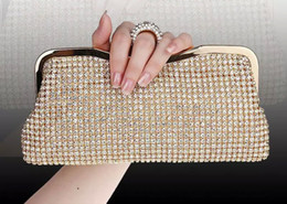 finger silver clutch bag Australia - Top quality new Rhinestones Women Clutch Bags Diamonds Finger Ring Evening Bags Crystal Wedding Bridal Handbags Purse Bags Black Gold Silver