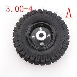 Discount tire rims Good quality 3.00-4 4.10-4 trye tire and inner tube rim wheel Alloy Rim hub for 49cc ATV Quad Go Kart Gas scooter bike m