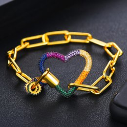 14k jewelry findings UK - wholesale Hot Trendy Women Punk Bracelets Charms Cubic Zirconia Luxury Link Chain Bracelets Bangles Fashion Jewelry Finding 2020