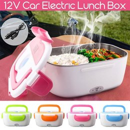 car food boxes UK - Hot Sales Heating Lunch Boxes Portable Electric Heater Lunch Box Car Plug Food Bento Storage Container Warmer Food Container Ben T200902