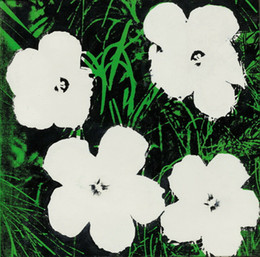 flowers art painting Australia - Andy Warhol Flowers White LARGE SIZE Wall Decor Oil Painting On Canvas Home Decoration Wall Art Canvas Picture For Living Room 200829