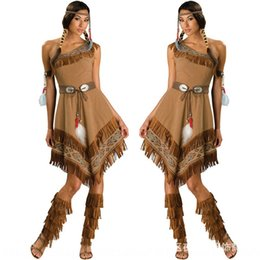 New Indian Acting cáqui deusa tribal Halloween role-playing New Indian traje da princesa Agindo deus tribal roupas princesa roupas cáqui