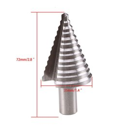 cone drill bits UK - Steel Step Cone Bit High Speed Steel Wood Hex Step Spiral Cone Drill Cutter HSS Step Cone Drill Titanium Bit Hole Cutter Tool