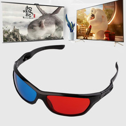 3d video game glasses NZ - 2 PCS Universal 3D Plastic Glasses Black Frame 3D Visoin Glass For Dimensional Anaglyph Movie Game DVD Video