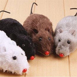 squeaking toy wholesale NZ - NEW Little Rubber Mouse Toy Noise Sound Squeak Rat Talking toys Playing Gift For Kitten Cat Play 6*3*2.5cm 500pcs IB282 hew3#