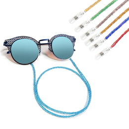 Colorful Plated 7Colors Small Beaded Chain Glasses Holder Silicone Antislip Eyeglasses Cord Sunglasses Necklace Band Accessories