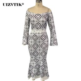 Sexy Slash Neck Ruffles Dress Women Summer 2020 Vintage White Lace Long Party Dress Casual Plus Size Slim Mermaid Maxi Dresses