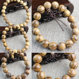 Wholesale vietnam white for sale – custom Vietnam Eaglewood white sand solid wood Buddha beads men and women beads Bracelet bracelet couple jewelry gift natural texture