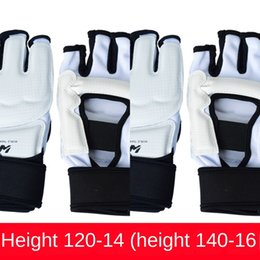 taekwondo foot gear Canada - Taekwondo hand protection foot pad adult children's foot pad Sanda training competition gear full set ankle protective protective gloves pro