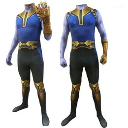 movie stars costumes Australia - Costume Long Sleeved Tights Movie Stars Halloween Cosplay Party Dress Thanos Theme