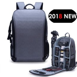 tripod shoulder UK - New Style Photo Shoulders Backpack Waterproof Nylon Case Fit 15 .6 Laptop Bag For Canon Nikon Sony Slr Photography Lens Tripod T190701