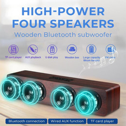 Wholesale Bluetooth Speaker Subwoofer Bluetooth Speaker BT5.0 50*9*9cm Home Theater Systmes FM Portable Universal
