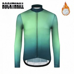 mens long sleeve winter cycling jerseys NZ - 2020 2020 Winter Thermal Fleece Cycling Jersey Long Sleeve Mens Green Black Red Road Bike Mens Mtb Warm Long Top Clothing A5Gd#