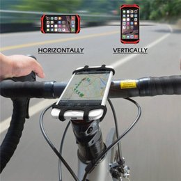 motorcycle universal phone holder UK - Shockproof Stable Universal Bike Phone Holder Silicone Elastic Band Handlebar Gps Phone Bracket Stand Bicycle Motorcycle Mount For Outdoor