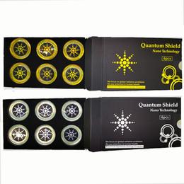 Stickers de bouclier quantique Téléphone mobile Gadgets anti-rayonnement pour la protection du téléphone portable à partir d'EMF Fusion Excel 6pcs / Set en Solde