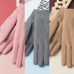 windproof waterproof touch screen gloves UK - 623 Sports women's Warm and gloves velvet thickened windproof warm autumn and winter gloves waterproof touch screen riding