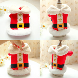 Wholesale cloth winter jackets for sale - Group buy Christmas Pet Dog Clothes Outdoor Clothing Hoodies Red Santa Cosplay Costume for Small Dog Winter Warm Coat Jacket Puppy Cloth