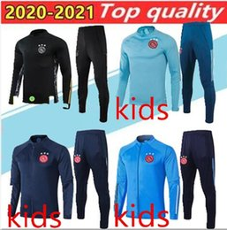 Discount boy army uniform 2020 kids football tracksuits Kids kit Jacket suit Kluivert full Football 20 21 NetherlandsTraining suit Ajax tracksuit