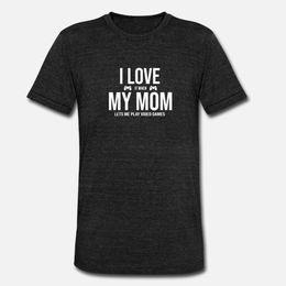 Wholesale style video game online – design I Love My Mom Shirt Teen Boy Video Game Lover Gift t shirt men Custom cotton O Neck Pattern Interesting New Style Spring Formal shirt