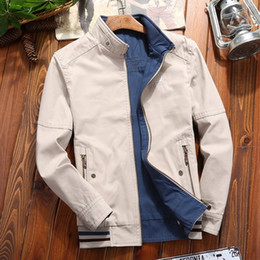 Wholesale jeep jackets coats for sale – winter VwgjB New Jeep shield jacket men s casual two sided large collar stand cotton jacket size coat for middle aged men