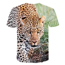 Wholesale cheetah prints for sale - Group buy 3D Cheetah Shirt Animals Clothing Leopard Animal T shirt d Print T Shirt Men Women Clothes Oversize Hip Hop Fashion Summer Tee