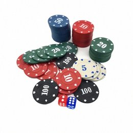 Ingrosso 100pcs di plastica rotondo Chips Casinò Poker Gioco di carte Baccarat Running Wear Athletic Outdoor Apparel conteggio Accessori VZsN #