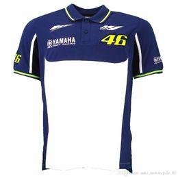 Wholesale yamaha shirts online – design 2018 MOTO GP for Yamaha M1 Factory Team Moto GP Polo Shirt Motorcycle T Shirt