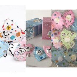 face mask pattern UK - Pattern Filter Layers Masks Panda Cartoon 5 Face Breather Valve Washable Reusable Children Dust UR8IMWSG K7NV