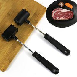 Wholesale Meat Hammer Tenderize Tool Round Square Double-side Household Meat Pork Steak loosening Hammer Tenderizer Kitchen Gadgets VT1463