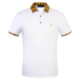 Wholesale cotton polos resale online – 2020 Luxury Designer Cotton Polo Shirts Men High Street Fashion Little Bee Print polos Mens desginer Brand Polo t shirt FW