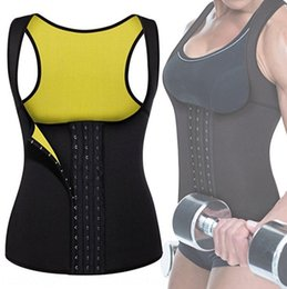 Wholesale best shapewear for sale - Group buy 7Qrqq Hot sweat chest holding vest double breasted Shapewear shapewear Leather Corset three breasted new clothes body shaping best sell p4V6A