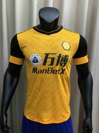 jerseys wolf NZ - Player version 2020 2021 PODENCE Wolves Soccer Jerseys ADAMA NEVES RAUL 20 21 Wolverhampton Wanderers top Tight shirt football kit