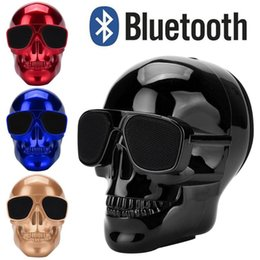 40# Plating Skull Pattern Portable Wireless Bluetooth 3.0 Stereo Speaker With Hd Sound And Super Bass Compatible For Mp3 Phones on Sale