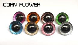 renk seçebilirsiniz diy bebek-8 malzemeler için Oyuncak Gözler 30pcs 16-25mm plastik şeffaf emniyet oyuncak gözler + parıltılı Nonwoven