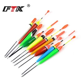 floating pole NZ - Fishing Float FTK Mixed Waggler Pole Fishing Floats Set of 10 Pcs Barguzinsky Fir Floats Sensitive Bodied 2 3 5g For Carp Sea