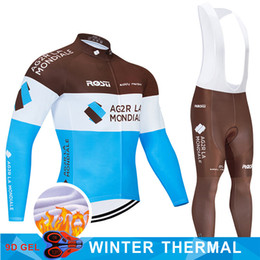 black thermal pants Australia - 2020 Pro Team Winter Cycling Clothing Pants Set MTB France Bicycle Clothes Ropa Ciclismo Thermal Fleece Mens Cycling Wear
