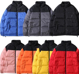 Wholesale woman s parka for sale - Group buy TOP New Face North Men women Designer Hooded Parkas Down Coat Windbreaker Brand Warm Jackets Men Luxury Zipper Thick Tops Jackets Coat