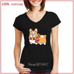 Wholesale harry potter shirts online – design Vetement femme Fat Harry Corgi Potter lovers V neck t shirt women fashion Summer Tops cozy and Breathable Soft Cotton cozy